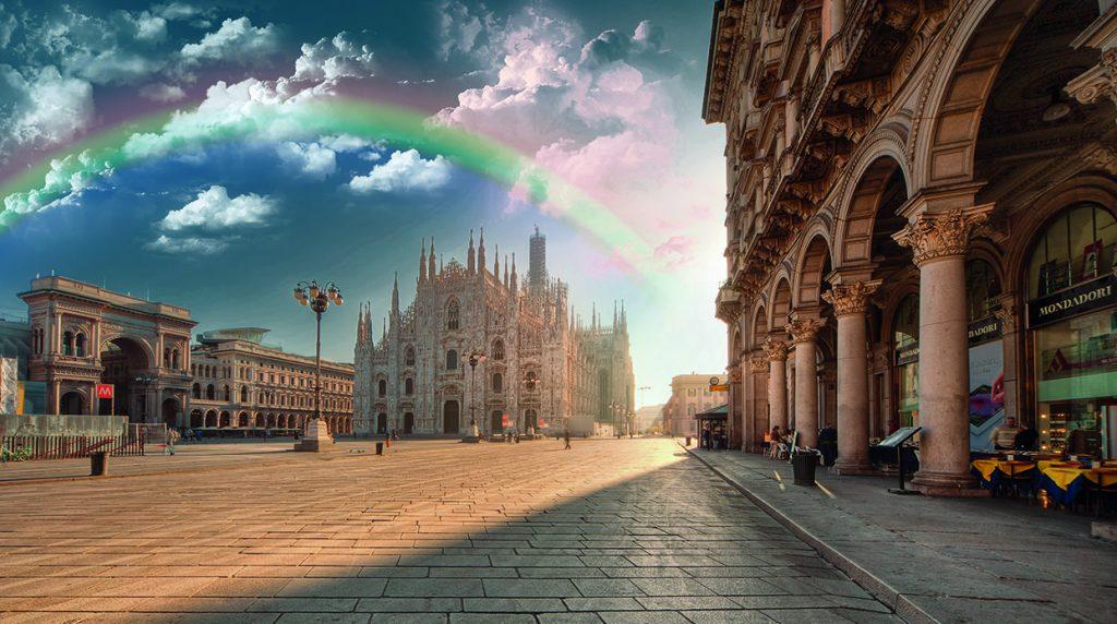 Milano over the rainbow