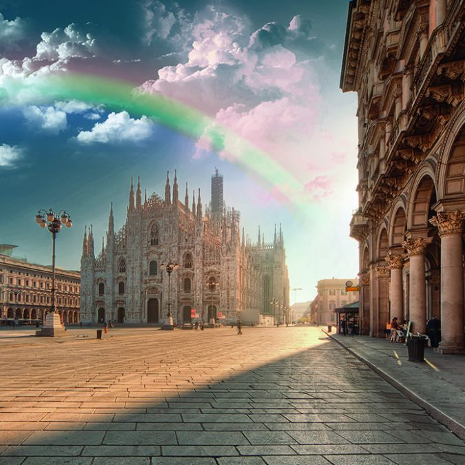 Milano over the rainbow