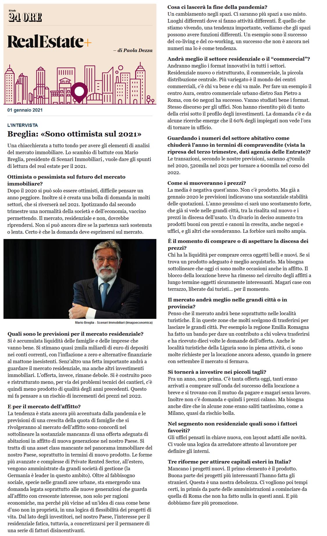 Mario Breglia intervista
